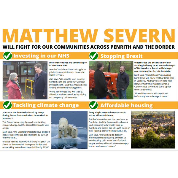 Penrith EA Leaflet - Matt Severn fighting for Penrith and the Border