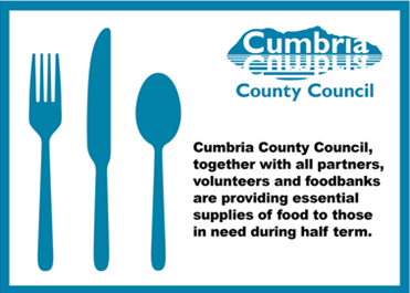 Cumbria County Council ensures 'help is at hand' to make sure no child goes hungry during this half term